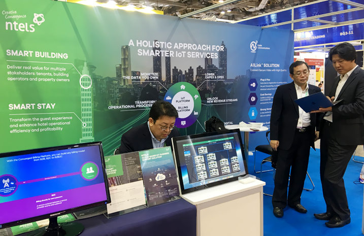 NTELS Exhibited at 2018 CommunicAsia in Singapore